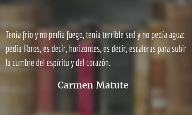 A vuelo de pájaro. Carmen Matute.
