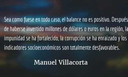 Los fusiles no eliminan la pobreza. Manuel Villacorta.