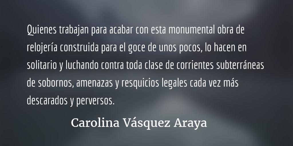 Como rueda de molino. Carolina Vásquez Araya.