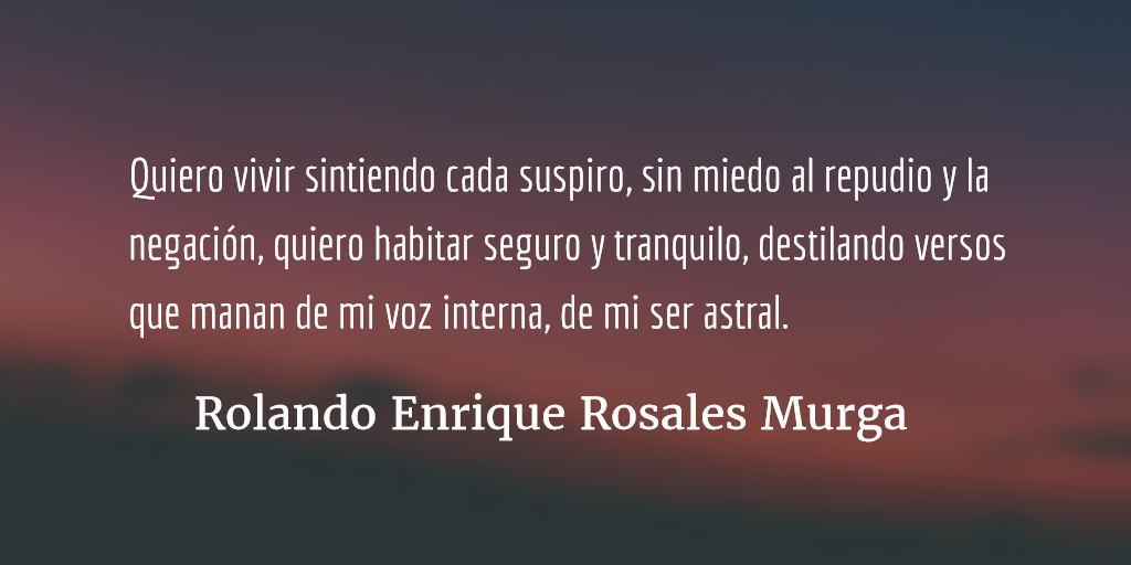 Permanencia. Rolando Enrique Rosales Murga.