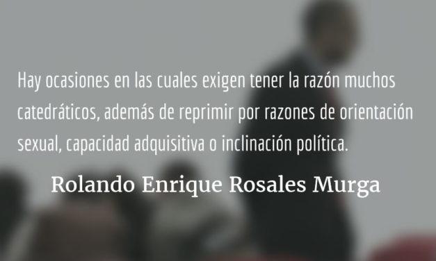 Raleado en la USAC. Rolando Enrique Rosales Murga.