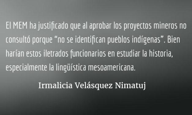 Corrupción y racismo hacia el pueblo Xinca. Irmalicia Velásquez Nimatuj.