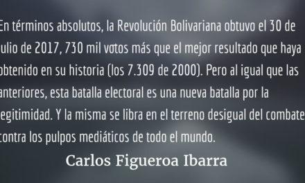 Venezuela, la nueva batalla por la legitimidad. Carlos Figueroa Ibarra.