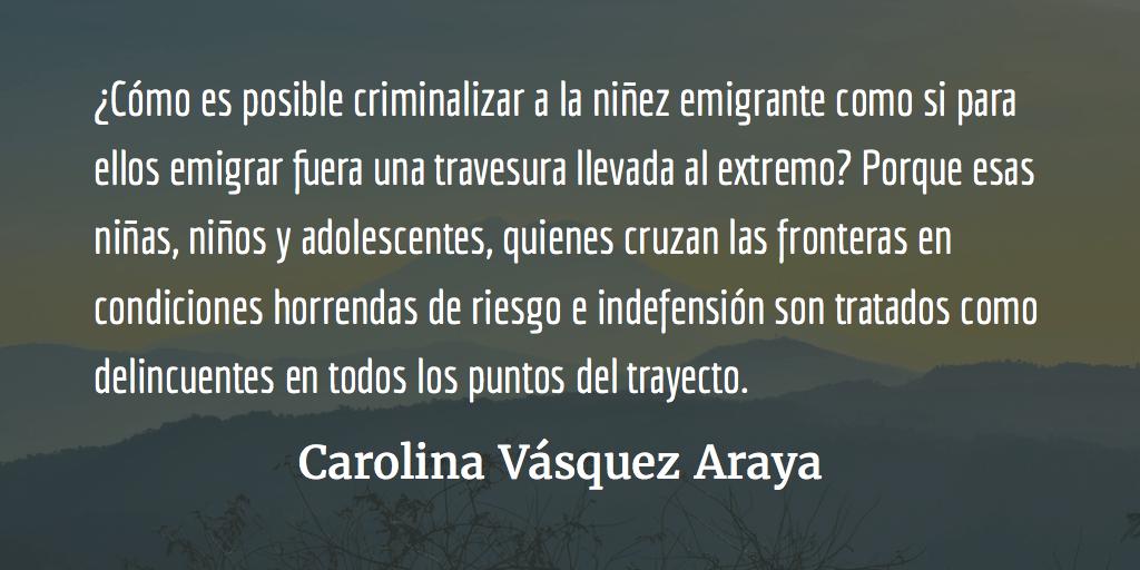 Los pequeños emigrantes. Carolina Vásquez Araya.