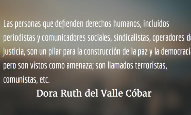 La situación de los derechos humanos en Guatemala. Dora Ruth del Valle Cóbar.