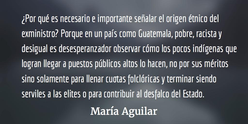 Carlos Batzín y la falsa multiculturalidad. María Aguilar.