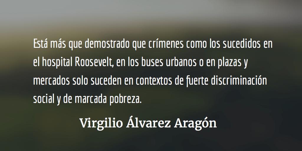 ¡Pena de muerte ya!  Virgilio Álvarez Aragón