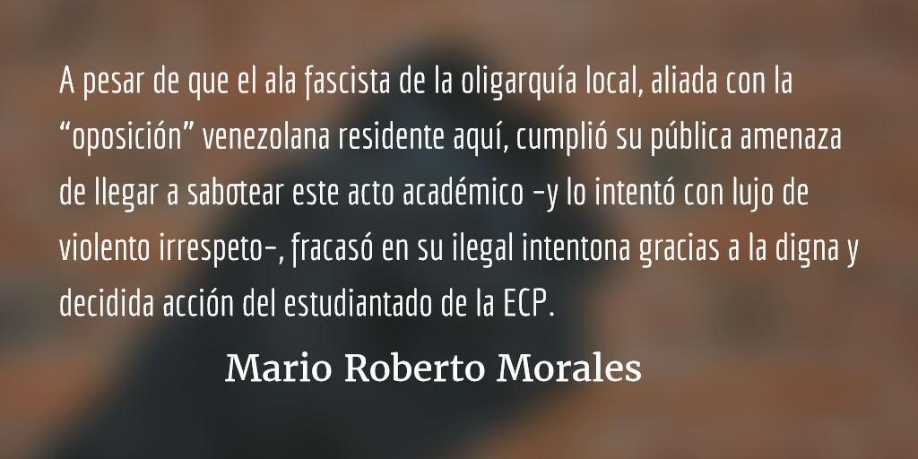 El fascismo ¡no pasó! Mario Roberto Morales