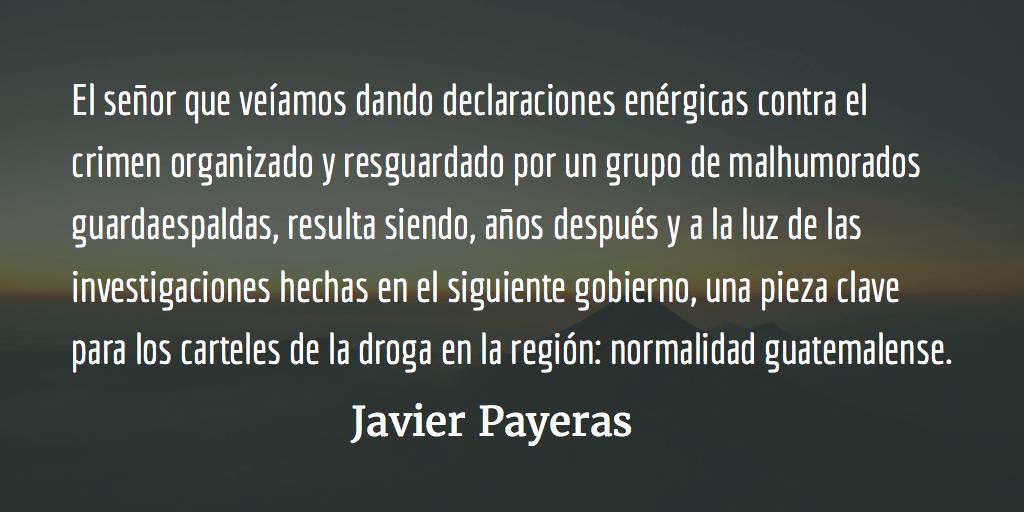 Normalidad guatemalense. Javier Payeras.