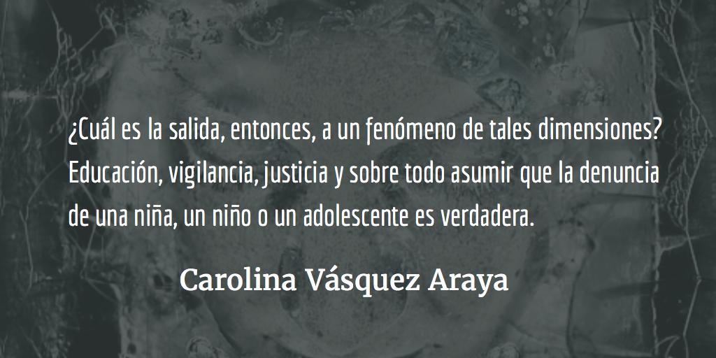 El incesto, un delitooculto. Carolina Vásquez Araya.