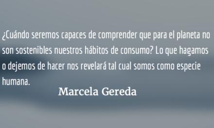 El cambio climático mata. Marcela Gereda.