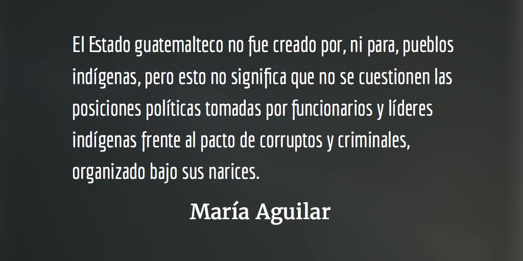 Pueblos indígenas frente a la crisis actual. María Aguilar.