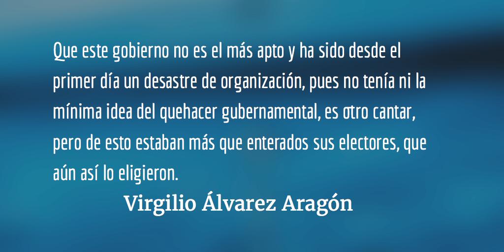 Enzarzado con la ultraderecha. Virgilio Álvarez Aragón.