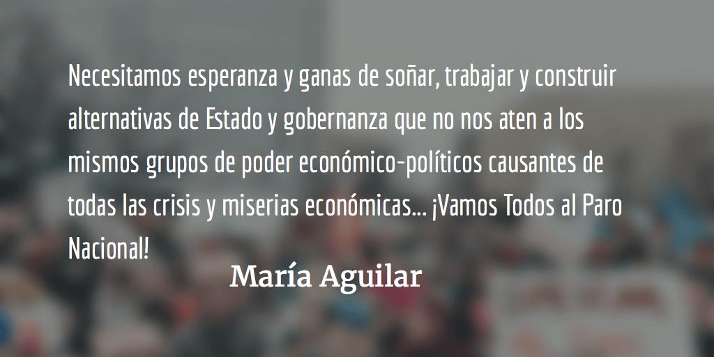 Jimmy Morales y los diputados representan un riesgo para la población. María Aguilar.
