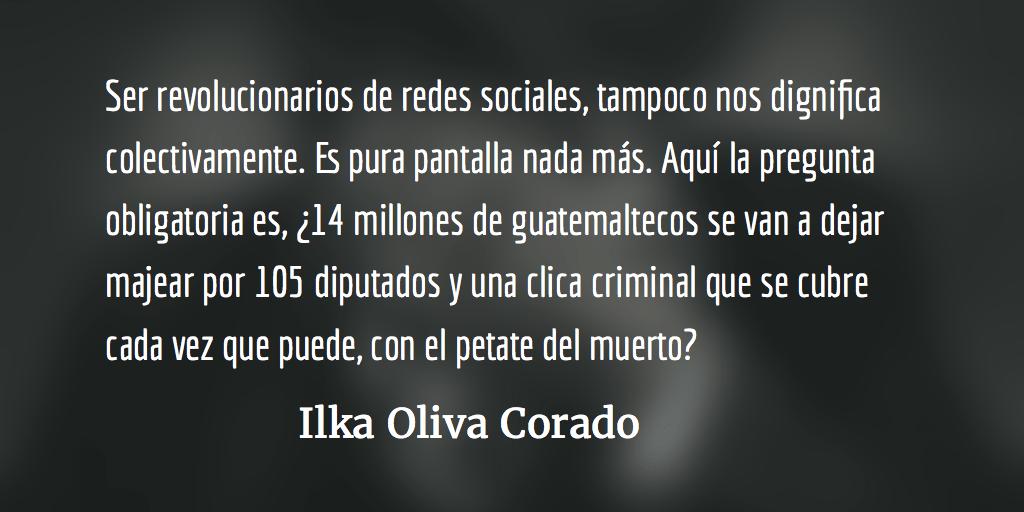 La patria esahora. Ilka Oliva Corado.