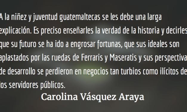 Les deben unaexplicación. Carolina Vásquez Araya.
