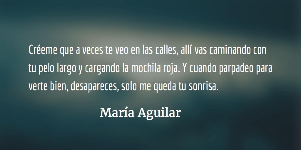 Un año después. María Aguilar.