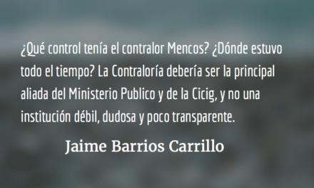 Un contralor sin control. Jaime Barrios Carrillo.