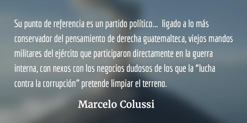 Guatemala: El presidente mostró la cara. Marcelo Colussi.