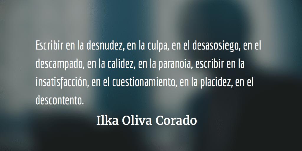 Escribir. Ilka Oliva Corado.