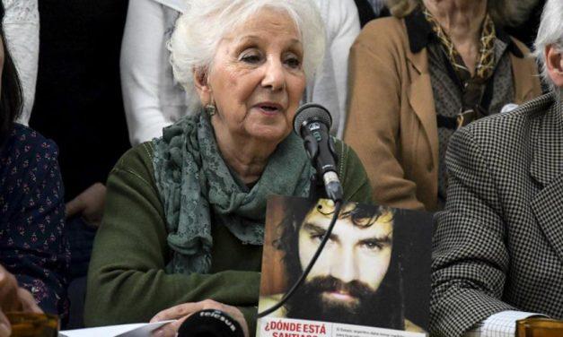 """Estela de Carlotto ante la confirmación de la identidad de Santiago Maldonado: """"Es una muerte desde el Estado y en democracia"""""""