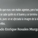 Intimidado por la PNC.  Rolando Enrique Rosales Murga.