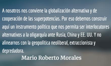 O Trump o Soros. Mario Roberto Morales.