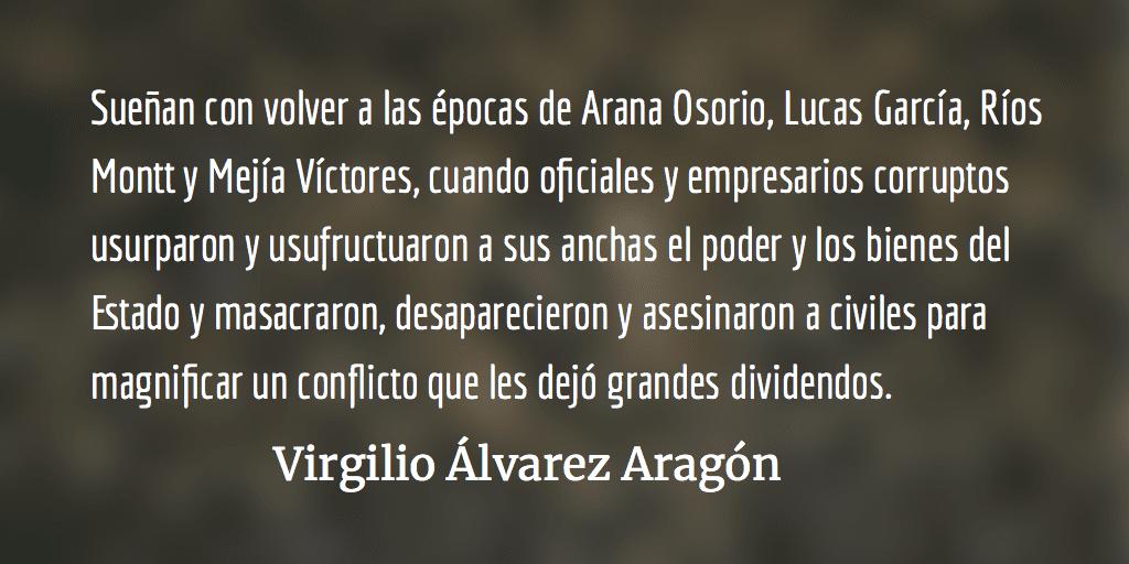 Cinismo y descaro. Virgilio Álvarez Aragón.