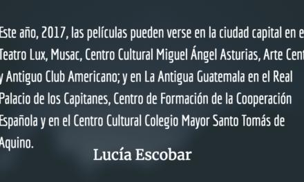 Cine en noviembre. Lucía Escobar.