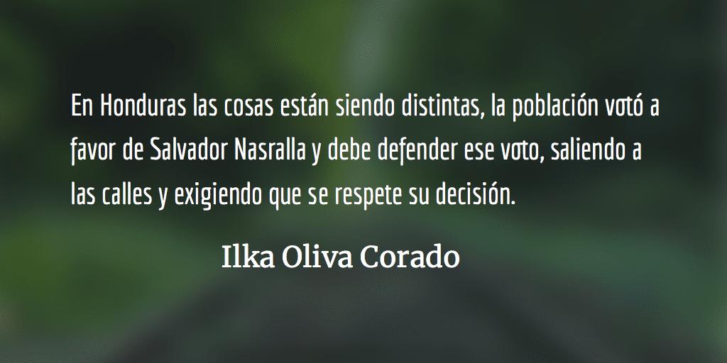 Golpe a Nasralla enHonduras. Ilka Oliva Corado.