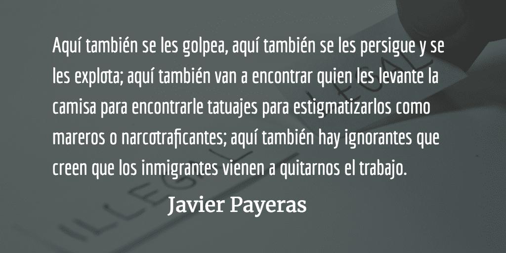 A mitad del camino. Javier Payeras.
