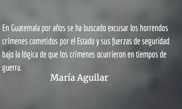 Buscando paz en la impunidad (I). María Aguilar.