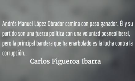 López Obrador, con paso ganador. Carlos Figueroa Ibarra.