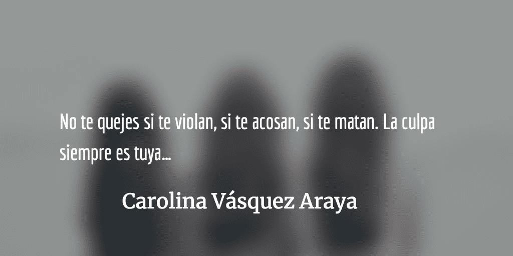 Una carga muy pesada. Carolina Vásquez Araya.