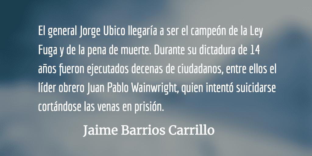 Una historia de terror. Jaime Barrios Carrillo.