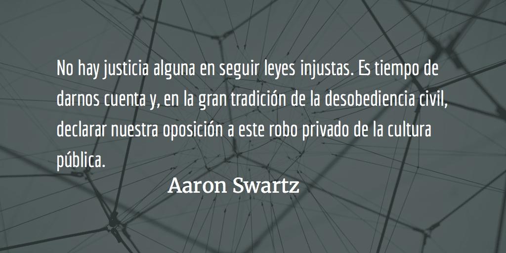 De cómo llegué a Fiona Apple o los ideales traicionados del MIT en Aaron Swartz. Julio C. Palencia.