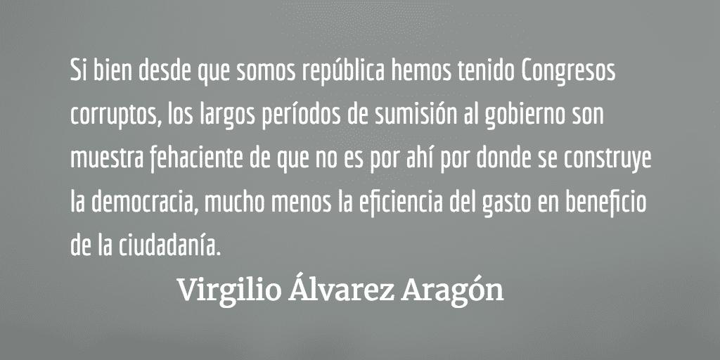 Decisión acertada del Congreso. Virgilio Álvarez Aragón.