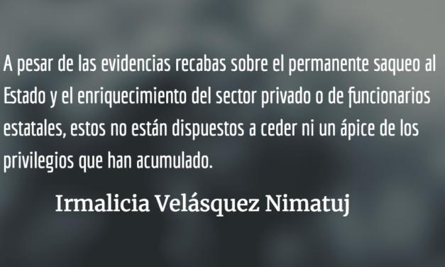 Con los días contados en el poder. Irmalicia Velásquez Nimatuj.