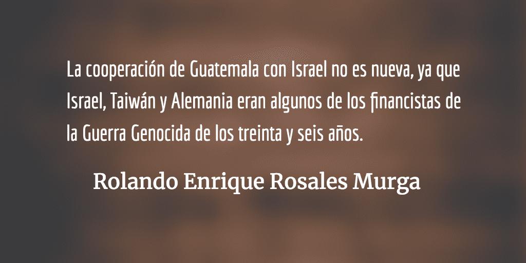 Devolviendo favores. Rolando Enrique Rosales Murga.