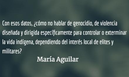 Buscando paz en la impunidad V. María Aguilar.