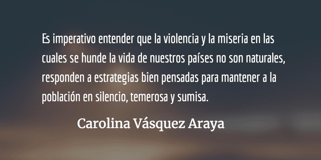 Los azotes del imperio. Carolina Vásquez Araya.