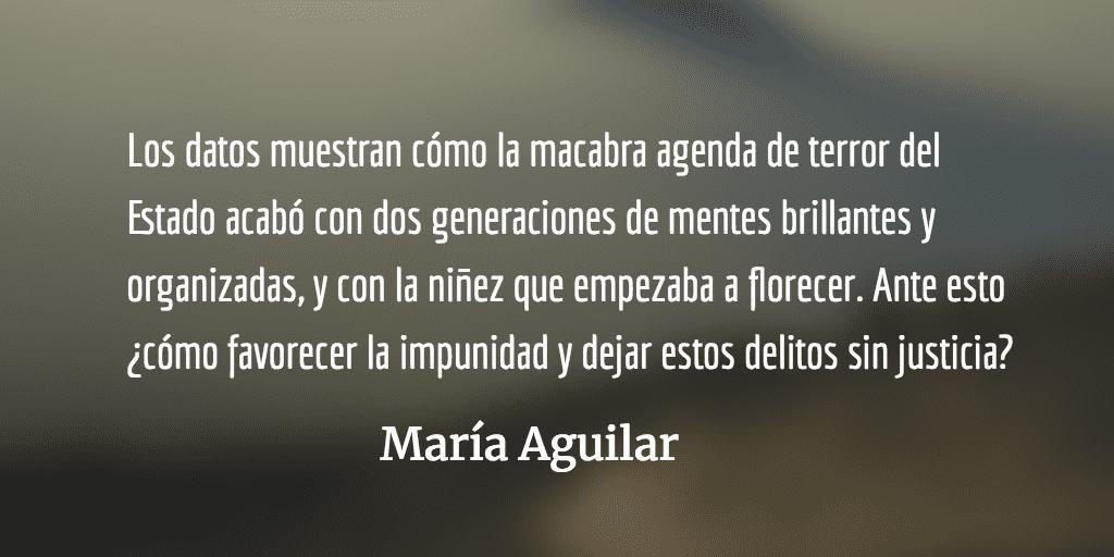 Buscando paz en la impunidad VI. María Aguilar.