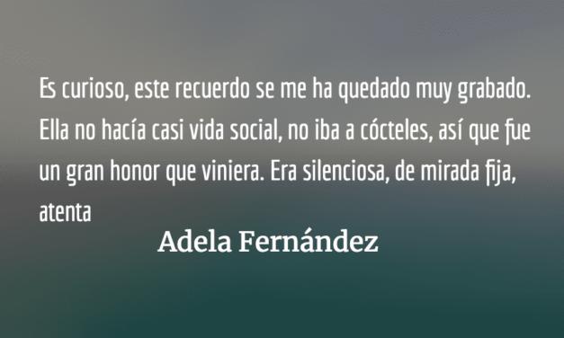 Recuerdos de Adela Fernández sobre Eunice Odio y Chavela Vargas. José Ricardo Chaves .