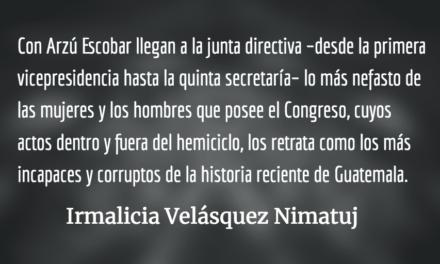 """El Congreso de los """"Criollos"""" los corruptos. Irmalicia Velásquez Nimatuj."""