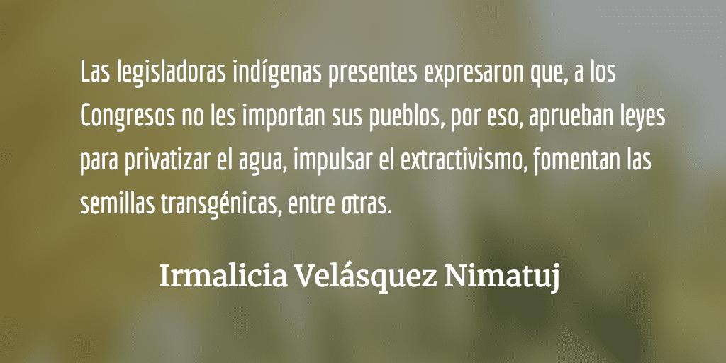 Mujeres indígenas decisoras. Irmalicia Velásquez Nimatuj.