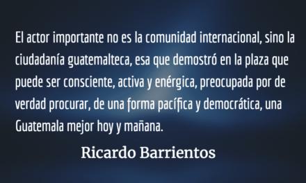 El pacto de corruptos ejerció su poder. Ricardo Barrientos.