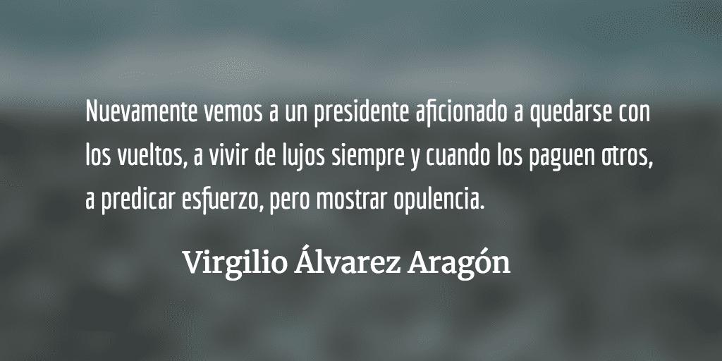 De Toblerone a lentes Carolina Herrera. Virgilio Álvarez Aragón.