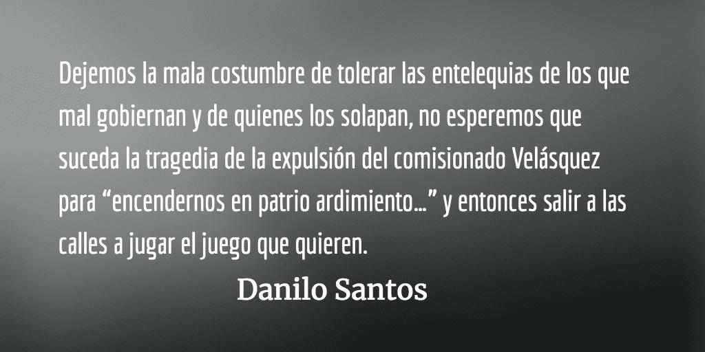 Falsarios discursos nacionalistas. Danilo Santos.