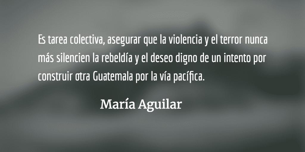 La maquinaria del terror político. María Aguilar.