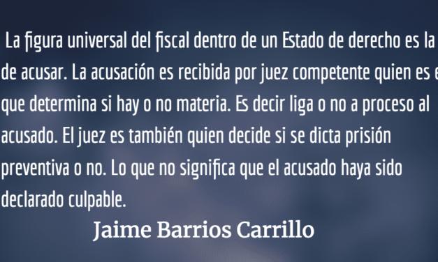 La presunción de inocencia. Jaime Barrios Carrillo.